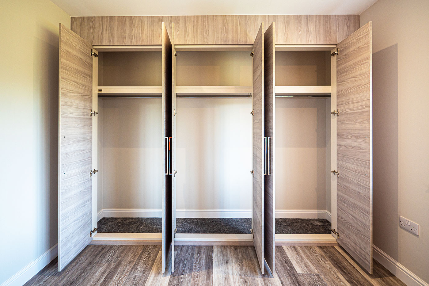 Large fitted wardrobes