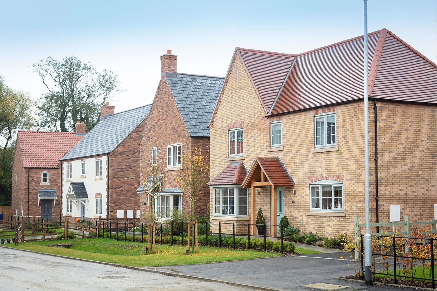 New homes on Lodge Lane in Nettleham